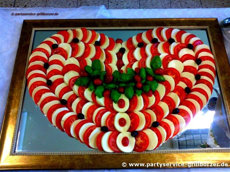 mozzarella platte galerien catering service grillborzer